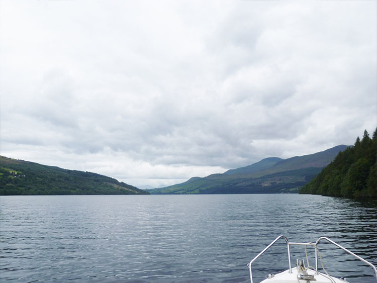 Boating on Loch Tay, Kenmore.